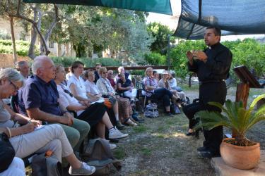 Nazareth (40 minutes de l'Oasis) : Présentation Vie des Arabes Chrétiens en Terre Sainte
