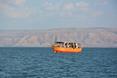 Méditation sur le Lac de Galilée (appontement 5 minutes de l'Oasis)